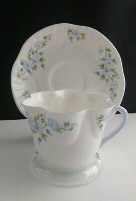 Crown Staffordshire Tea Cup and Saucer Rock Garden Fine Bone China England