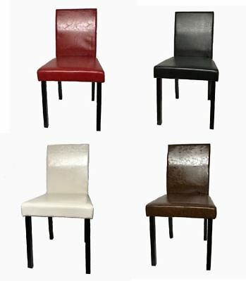 Pleasant Pu Leather Dining Chairs Wooden Legs Room Home Restaurant Evergreenethics Interior Chair Design Evergreenethicsorg