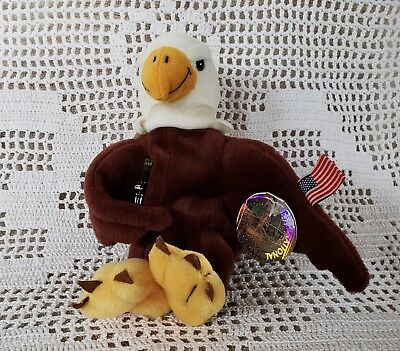 Reegle Bald Eagle Coca-Cola International Collection USA Bean Bag Plush MWMT