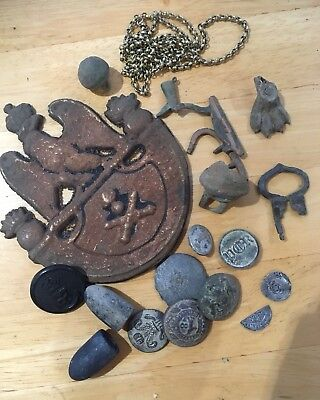 metal detecting finds - Military, Georgian, Silver Medieval Hammered Coins