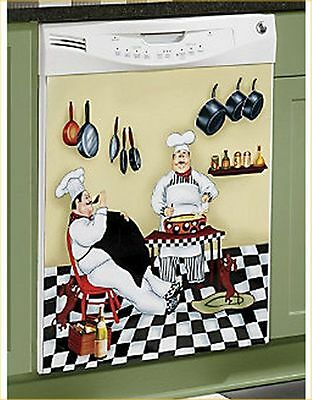 "French Italian Chef Magnetic Kitchen refrigerator Cover - 25"" x 40"""