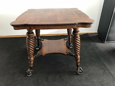 Antique Oak ball & claw Table High Quality
