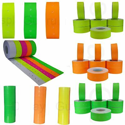 Price Gun Colored Lables 20 Rolls (10,000 Labels) 22 x 12mm fits MoTEX & Others