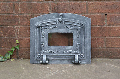 37.3 x 31.5 cm cast iron fire door clay bread oven doors pizza stove smoke house