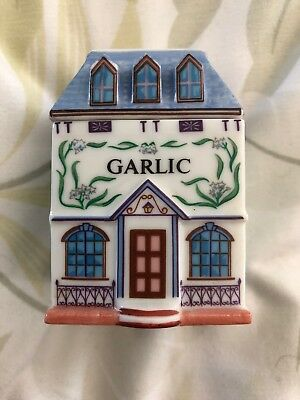 Lenox Spice Village Jar Fine Porcelain 1989 Garlic T8