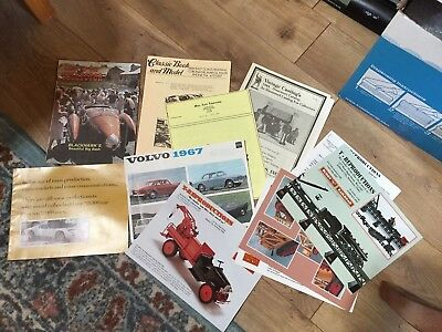 Lot of  Vintage Car Catalogs brochures pamphlets  OLD STOCK different years