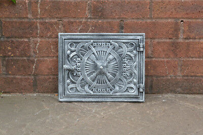 32.5 cm x 26 cm cast iron fire door clay/bread oven door/pizza smoke house