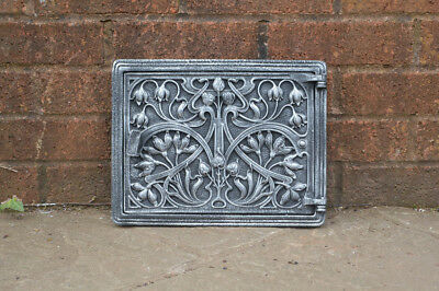 31.5 cm x 24.5 cm cast iron fire door clay/bread oven door/pizza smoke house