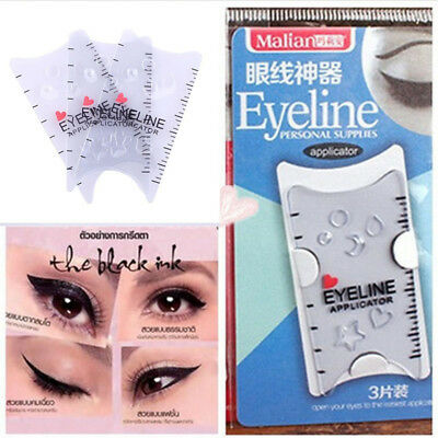 Bottom Eyebrows Smokey Template Card Auxiliary Tools Makeup Eyeliner Stencils