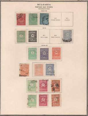 BULGARIA: 1902-1922 Postage Dues - Ex-Old Time Collection - Album Page (19002)