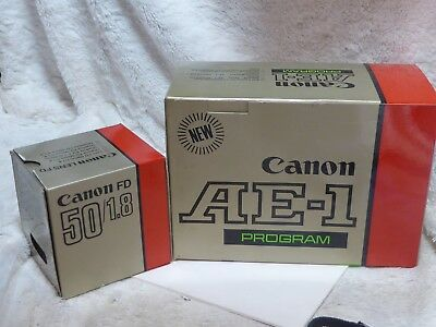 Canon AE-1 Program 35mm SLR Camera with 50mm lens & strap, near mint .