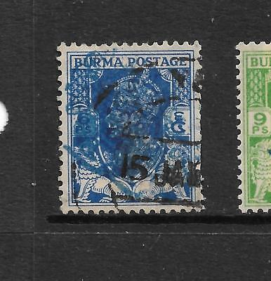 1942,BURMA,JAPANESE OCCUPATION,SGJ27a KGVI,USED,NOT INDIA,STATES,PEACOCK