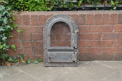33 x 50 cm cast iron fire door clay bread oven doors pizza stove smoke house