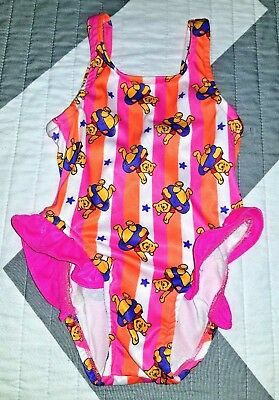 NWOT GIRL'S ONE PIECE  TODDLER SWIMSUIT RUFFLES - Size 18 MO.  WINNIE The POOH
