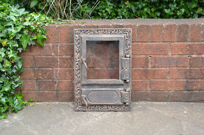 32.5 x 47 cm cast iron fire door clay bread oven doors pizza stove smoke house