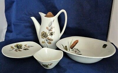 Collection Vintage 1960's Midwinter Stylecraft Tableware Including Coffee Pot
