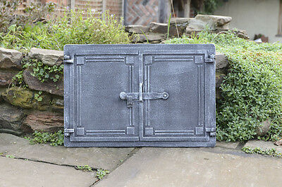 47.8 x 32.5 cm cast iron fire door clay / bread oven doors pizza stove fireplace