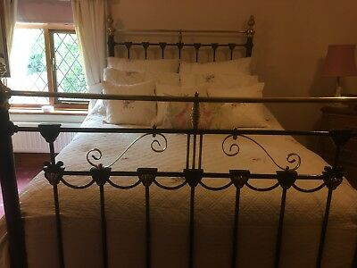Vintage Original Brass Double bed