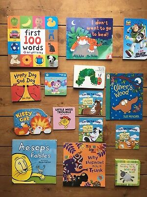 15 children Baby Board Book Bundle Baby Story Books Hungry Caterpillar (98)