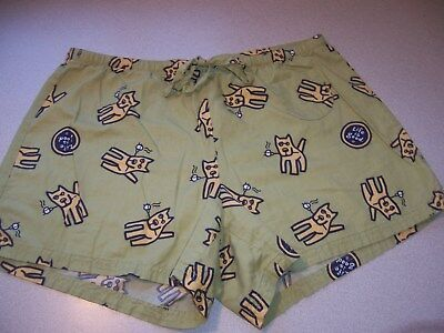 Life Is Good Womens Shorts Size M Sleep Dog Camping
