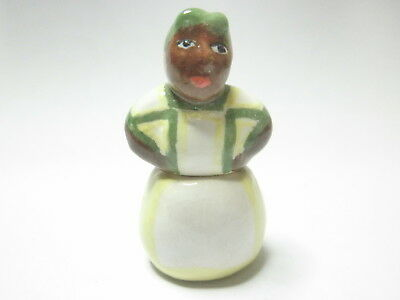 Dollhouse Miniature cookie jar hand made ceramic after Brayton Mammy - yellow