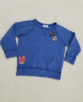 NWOT Foo Fighters Toddler Sweatshirt Crewneck Patches Size 2T Blue Long Sleeves