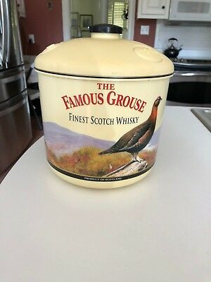 Vintage Collectible The Famous Grouse 1880 Ice Bucket, 1960's-70's RARE