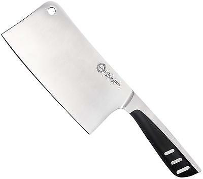 7 Inch Stainless Steel Meat Cleaver Butcher Chopper Knife ~Lux Decor Collection