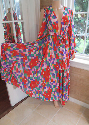 VINTAGE nylon 1960s ROBE DRAMATIC by Cole of California sz Sm/med PRISTINE