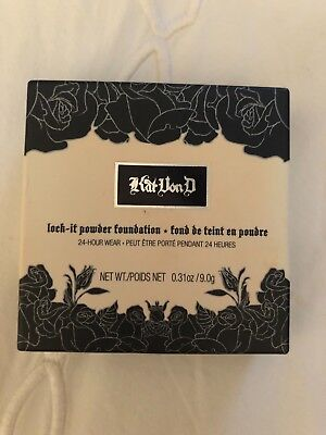 "Kat Von D Lock It Powder Foundation ""DEEP 66"". Full Size. New in box."