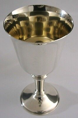 GOOD SIZED SOLID STERLING SILVER GOBLET CHALICE 1971 ENGLISH HEAVY 160g