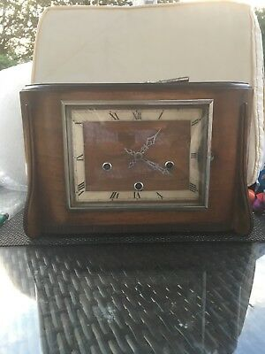 Vintage Art Deco Style Wooden/Mantle Clock Enfield.