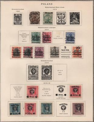 POLAND: 1918-1919 Examples - Ex-Old Time Collection - Album Page (18925)