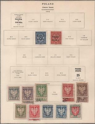 POLAND: 1919 Examples - Ex-Old Time Collection - Album Page (18909)