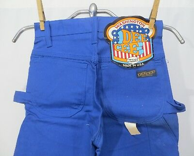 Vintage 70s Pants Dee Cee Painter Pants Dead Stock Kids sz 10 NWT Blue
