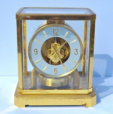 LeCoultre Rare Vintage Atmos Switzerland Mantle Clock Working