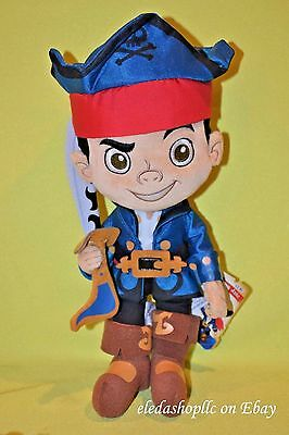 Disney Store Captain Pirate Jake And The Never Land Pirates Plush Toy