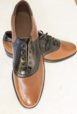 "RAND  VINTAGE  BLACK AND BROWN SHOES 1950""s"