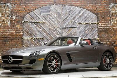 Mercedes-Benz SLS AMG Roadster 12 Convertible B&O Bang and Olufsen Sound 10-Spoke Forged Wheels Red Calipers