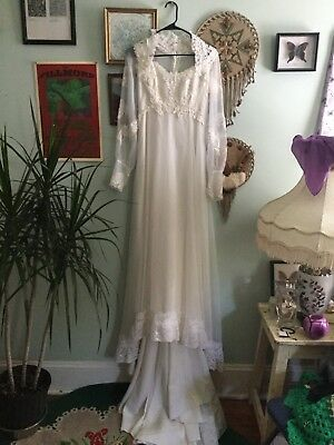 vintage 60s 70s boho wedding dress