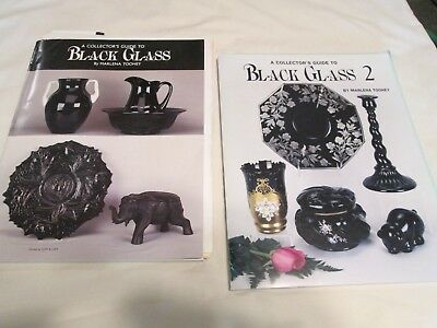 Collector's Guide Book to Black Glass; 2 books; 1998 &1999; re: black amethyst