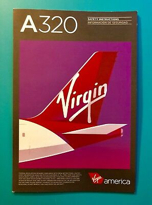 Virgin America Safety Card--Airbus 320–Rev #3