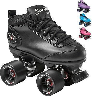 New! Sure-Grip Cyclone Quad Roller Speed Skates Pink, Black, Purple or Blue!