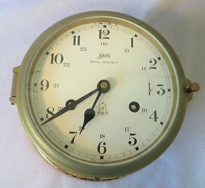 OLD Vintage SCHATZ ROYAL MARINER Brass 8 DAY SHIPS CLOCK MADE IN GERMANY Working