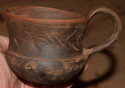 Very rare pottery Celtic drinking cup circa 600-400 BC.