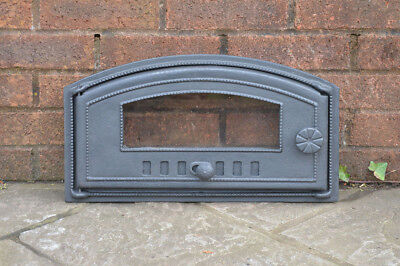 48 x 27 cm cast iron fire door clay bread oven doors pizza stove smoke house