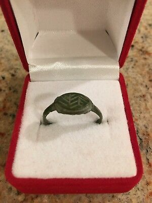 Ancient Roman Empire, 1st -3rd c. AD.Bronze ring Beautiful Patina 100% Authentic