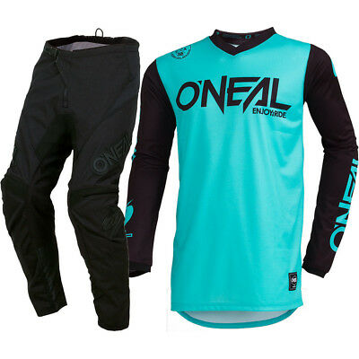 NEW Oneal 2019 MX Threat Rider Jersey Element Pants Teal Motocross Gear Set