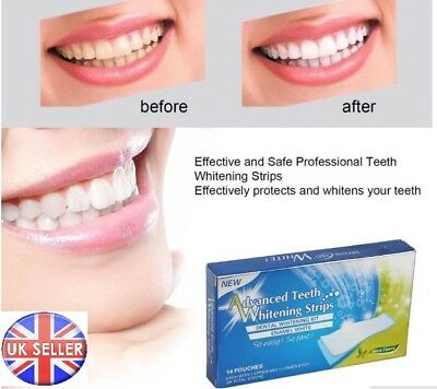 Advanced Teeth Whitening Strips Professional Tooth Bleaching Home Kit 28 strips