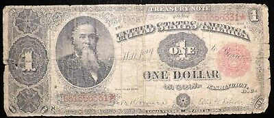 1891 $1 Dollar Treasury Paper Note   Rough